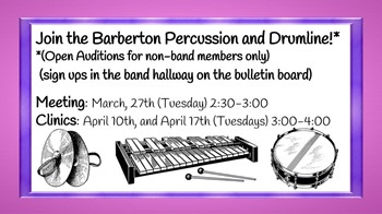 Join Percussion and Drumline!