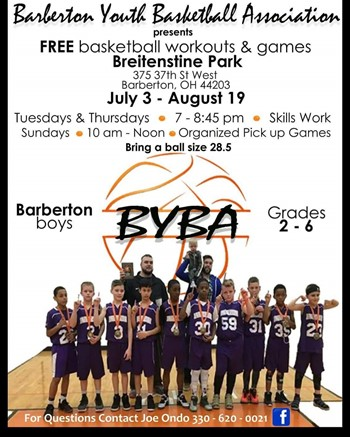 Basketball Summer Skills Flyer