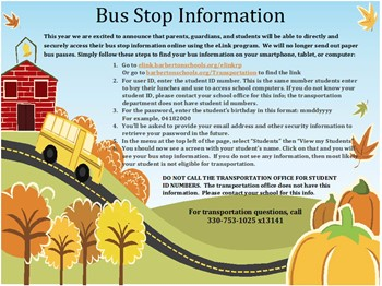 NEW Busing Information