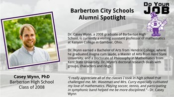 Alumni Spotlight for Aug