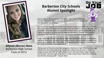 Alumni Spotlight for Feb