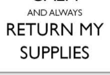 BHS Supply Return