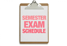 BHS Semester Exam Schedule