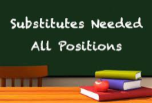 Substitutes Needed - All Positions
