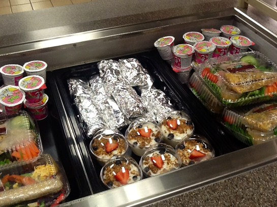 BMS students can choose a sandwich wrap or a specialty salad as another menu option!