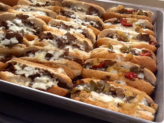 Philly Steak Sandwich's served at BMS...Yummy!!