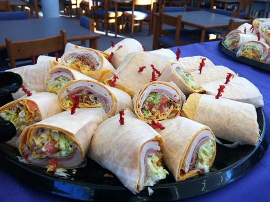 Specialty wraps by our BHS cafeteria staff for the Mayors Leadership Luncheon
