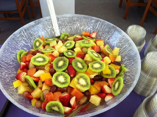 Fruit salad by our BHS cafeteria staff for the Mayors Leadership Luncheon