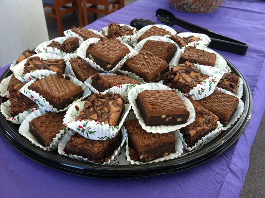 Brownies by our BHS cafeteria staff for the Mayors Leadership Luncheon