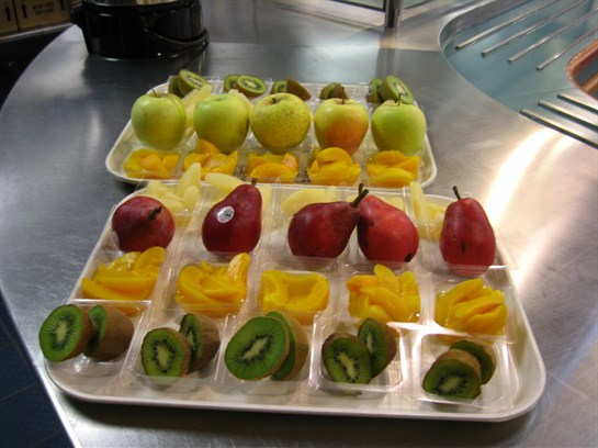 Assorted fruit is available daily in our Cafeterias.