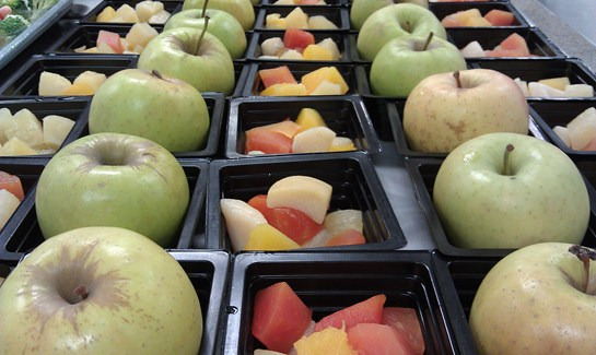 Assorted fruits are available daily at our elementary cafeterias
