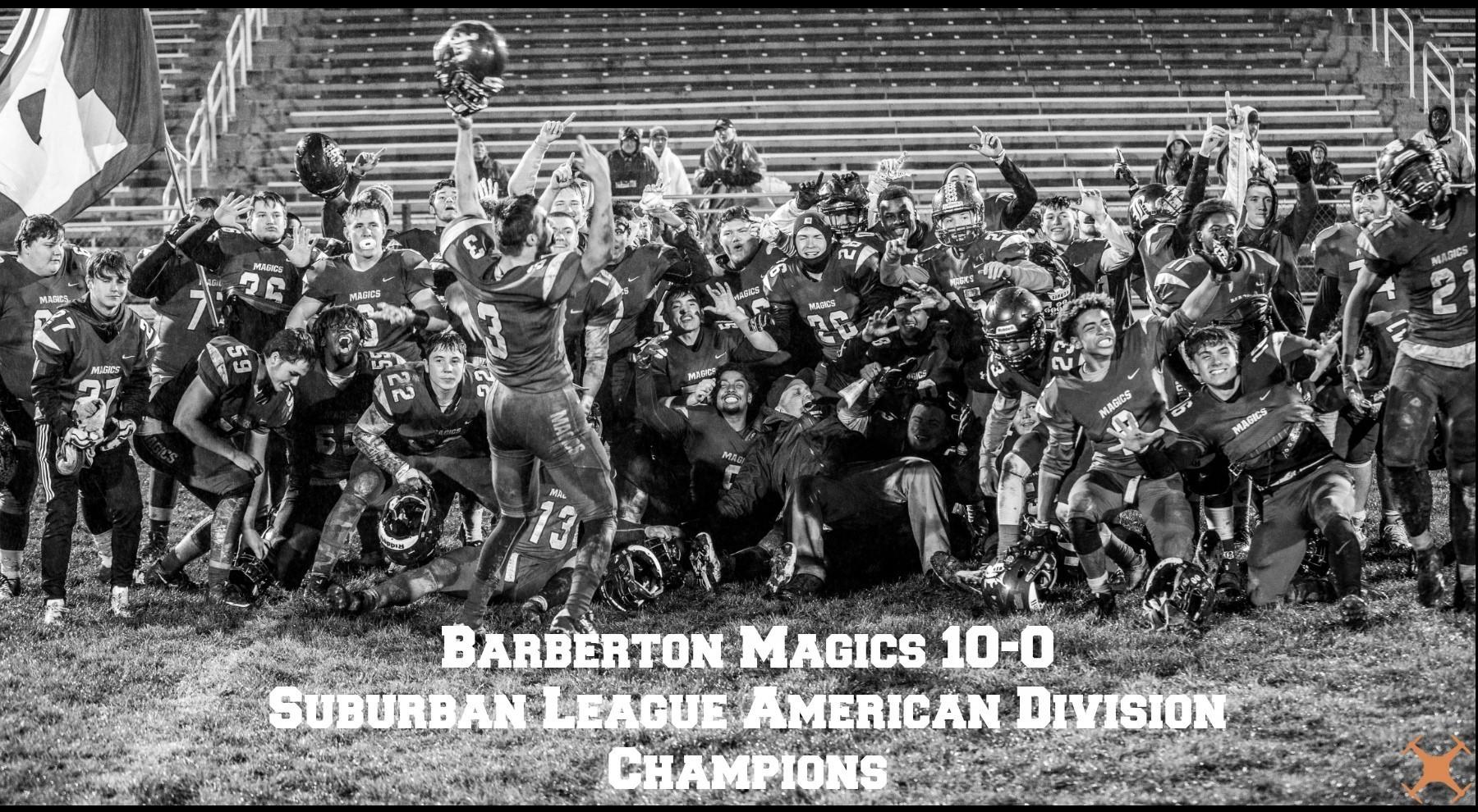 Barberton Magics 10-0 Suburban League American Division Champions