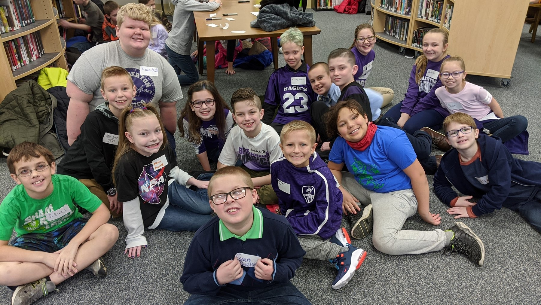 Gifted Fourth Grade students from East and West competed in the 24 Math Tournament at Copley High School