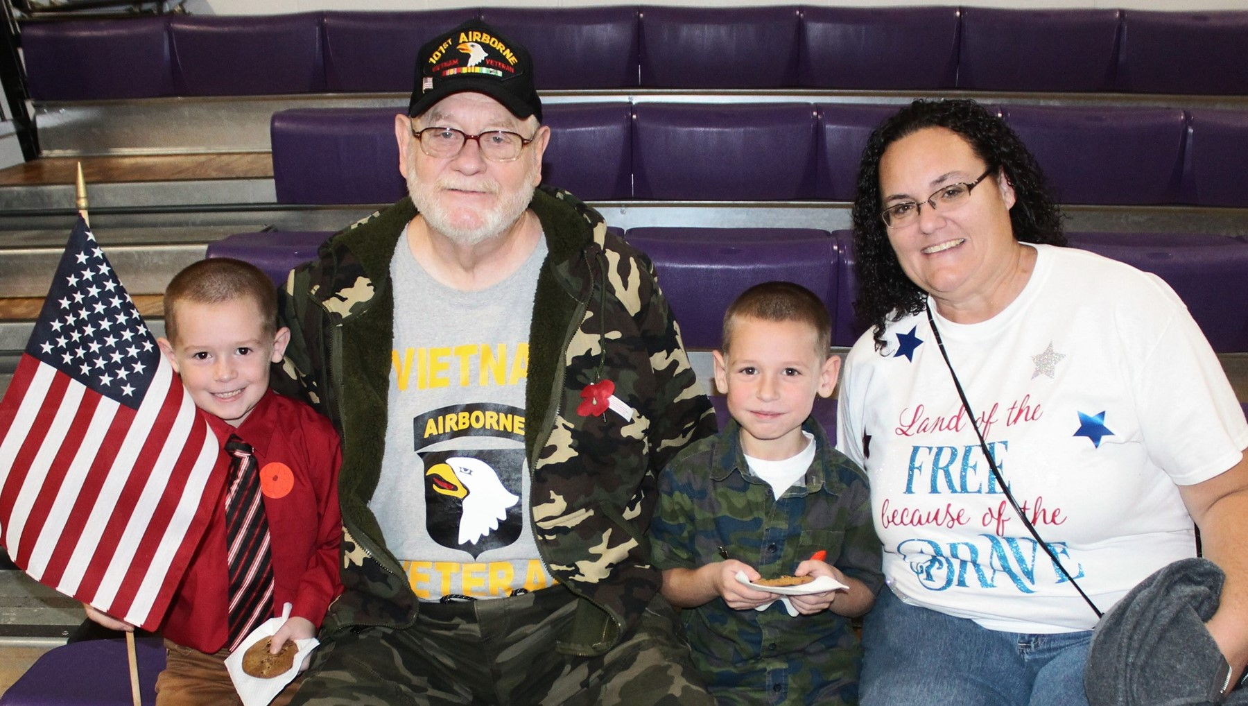 Honoring Veterans at Barberton Elementary West
