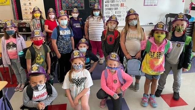 The Barberton Fire Department came to visit 2nd grade classes for Fire Safety Week!