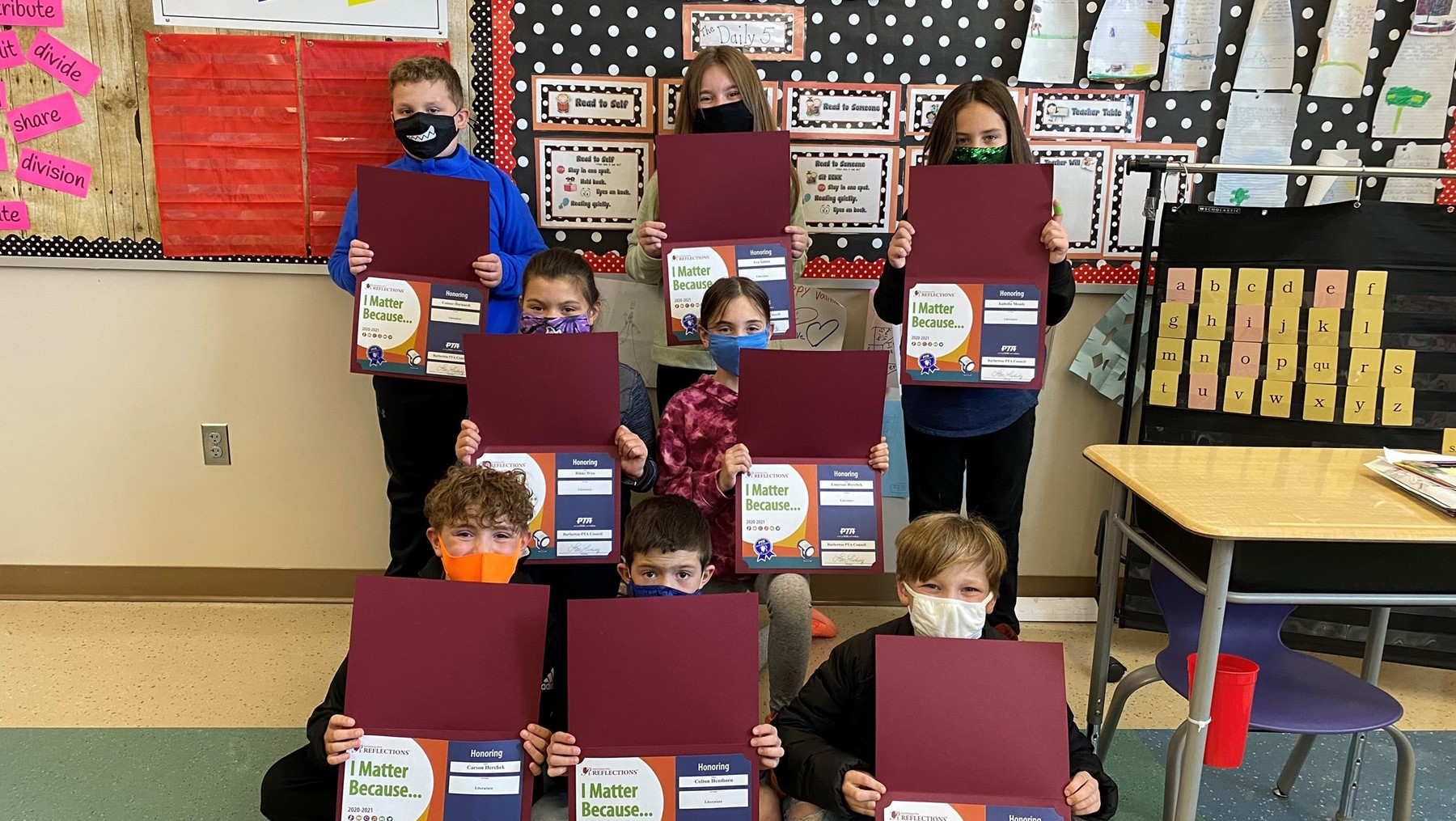 Ms. Vinays 3rd grade class at Barberton Elementary East participated in the PTA Reflections literature contest.